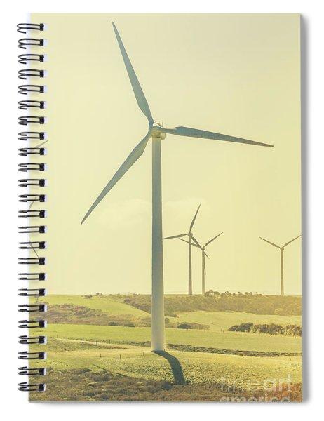Retro Rotation Spiral Notebook