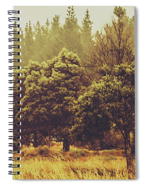 Retro Rural Tasmania Scene Spiral Notebook