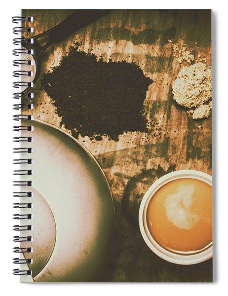 Retro Tea Background Spiral Notebook