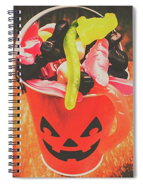 Retro Trick Or Treat Pumpkin Head  Spiral Notebook