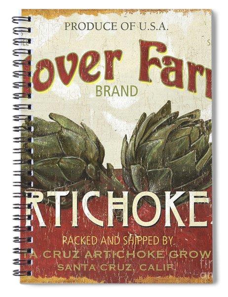 Retro Veggie Labels 1 Spiral Notebook