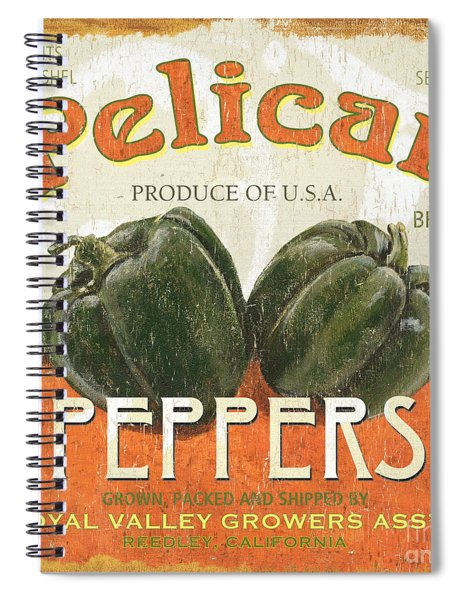 Retro Veggie Labels 3 Spiral Notebook