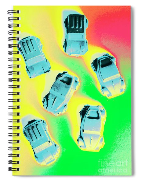 Retroactive Racing Spiral Notebook