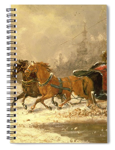 Returning Home In Winter Spiral Notebook