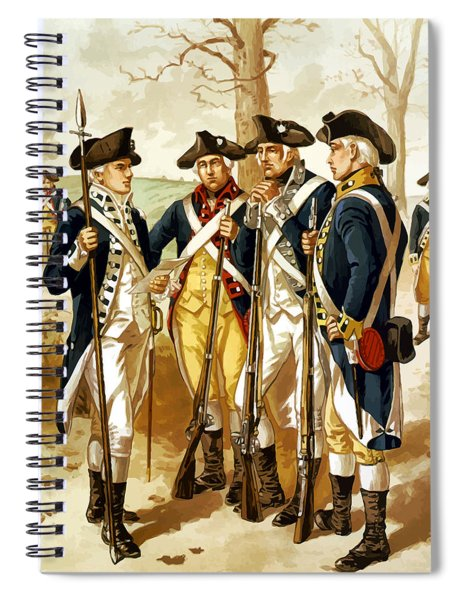 Revolutionary War Infantry Spiral Notebook by War Is Hell Store