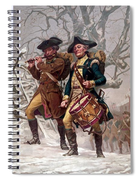 Revolutionary War Soldiers Marching Spiral Notebook