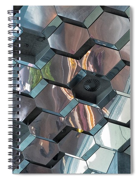 Reykjavik Window Astract Spiral Notebook