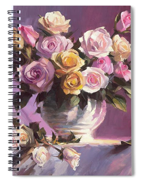 Rhapsody Of Roses Spiral Notebook