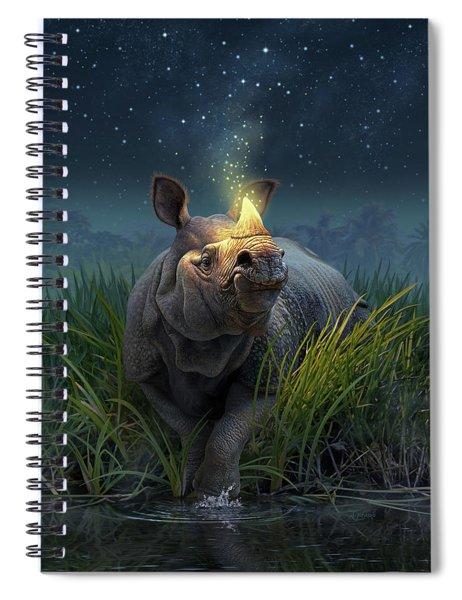 Rhinoceros Unicornis Spiral Notebook