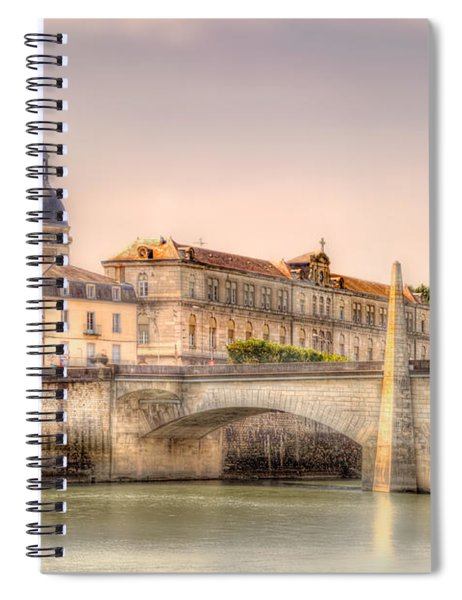 Bridge Over The Rhone River, France Spiral Notebook
