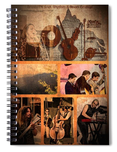 Rhythm And Roots Festival Spiral Notebook