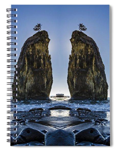 Rialto Beach Sea Stack Reflection Spiral Notebook