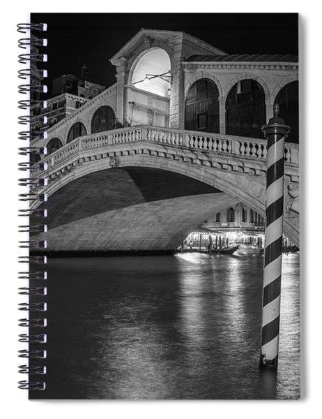 Rialto Bridge Black And White  Spiral Notebook
