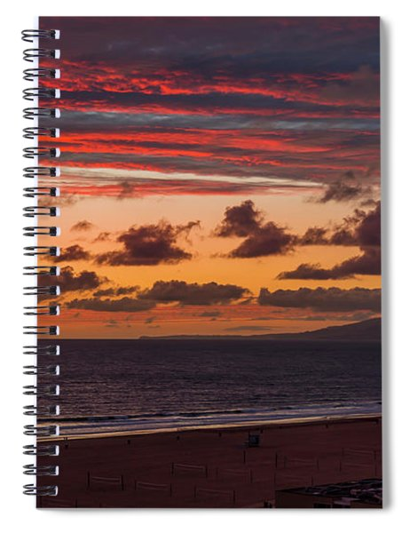 Ribbons Of Red Spiral Notebook