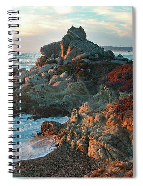 Ribera Beach Sunset Carmel California Spiral Notebook
