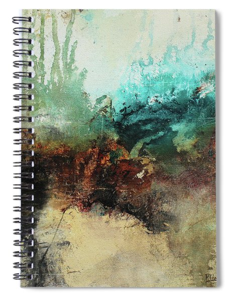 Rich Earth Tones Abstract Not For The Faint Of Heart Spiral Notebook