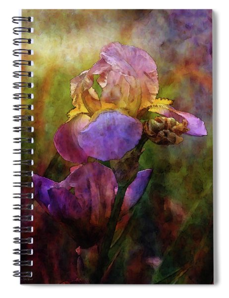 Rich Purple Irises 0056 Idp_22 Spiral Notebook