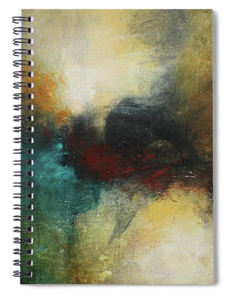 Rich Tones Abstract Painting Spiral Notebook