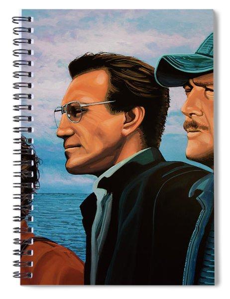 Jaws With Richard Dreyfuss, Roy Scheider And Robert Shaw Spiral Notebook