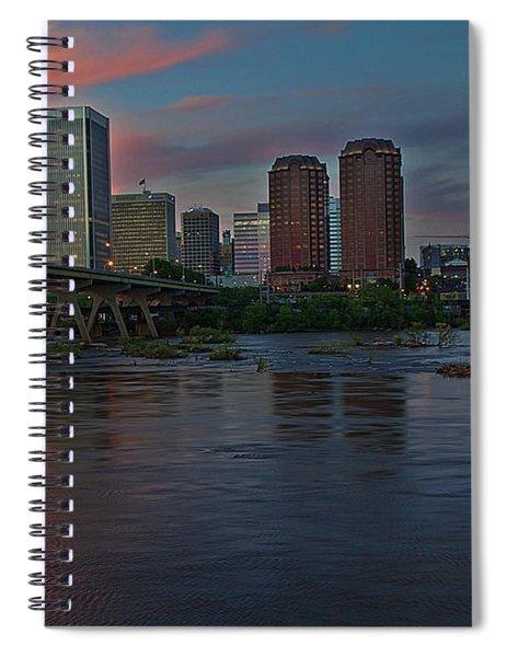 Richmond Dusk Skyline Spiral Notebook
