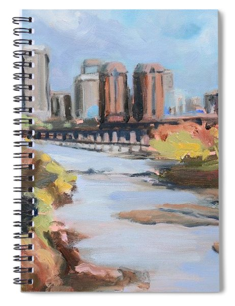 Richmond Virginia Skyline In Autumn Spiral Notebook
