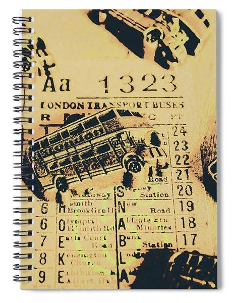 Ride Down Memory Lane Spiral Notebook