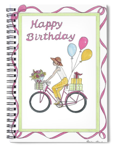 Ride In Style - Happy Birthday Spiral Notebook