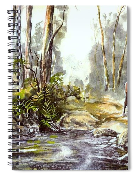 Rider By The Creek Spiral Notebook