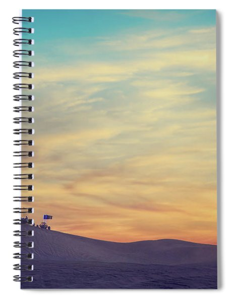 Riding Into The Sunset Spiral Notebook