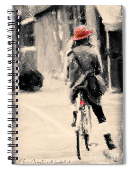 Riding My Bicycle In A Red Hat Spiral Notebook