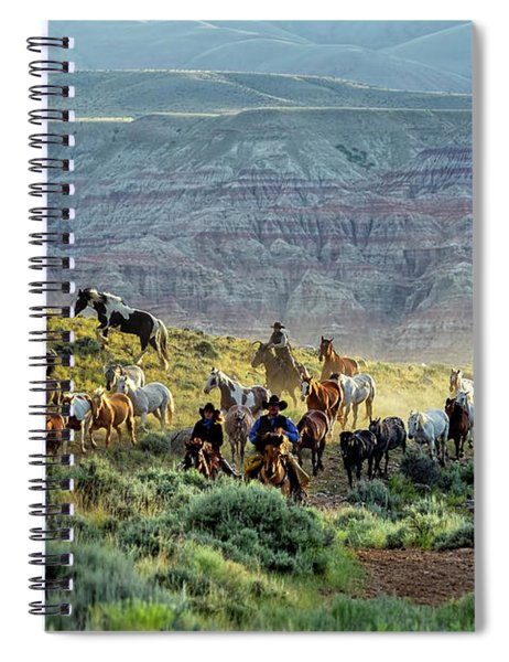 Riding Out Of The Sunrise Spiral Notebook