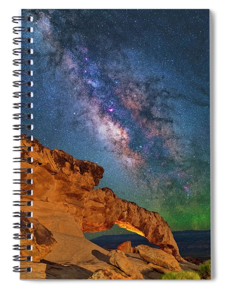 Riding Over The Arch Spiral Notebook