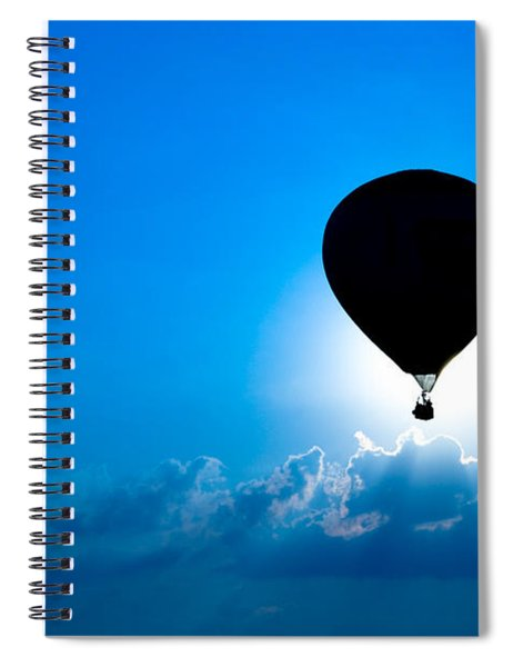 Riding The Clouds Spiral Notebook
