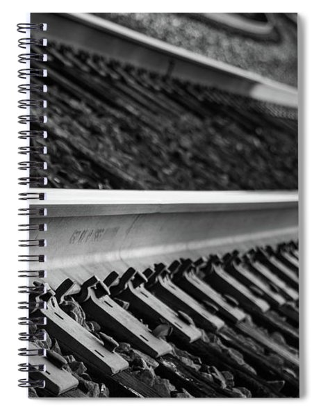 Spiral Notebook featuring the photograph Riding The Rail by Doug Camara