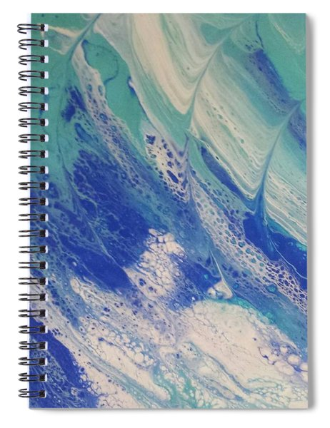 Riding The Wave Spiral Notebook