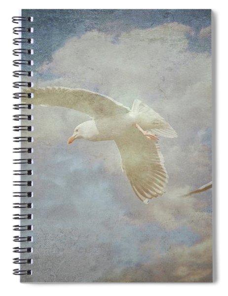Riding The Wind, Seagulls Spiral Notebook
