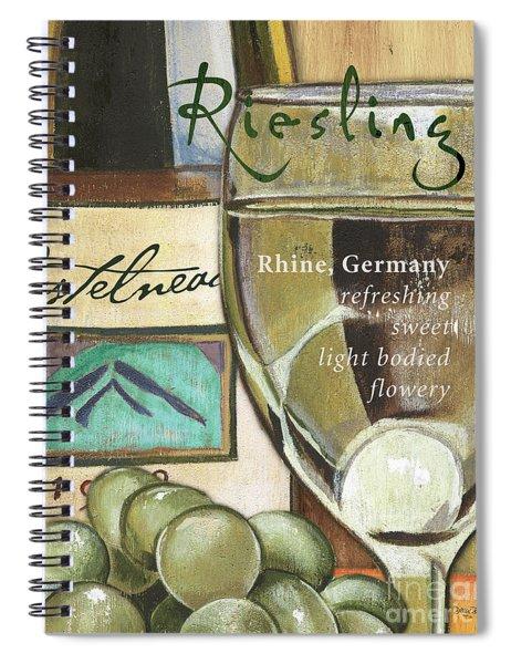 Riesling Wine Spiral Notebook