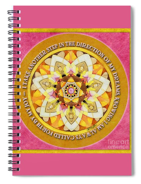 Right Path Mandala Prayer Spiral Notebook