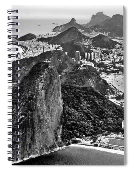 Rio De Janeiro - Sugar Loaf, Corcovado And Baia De Guanabara Spiral Notebook