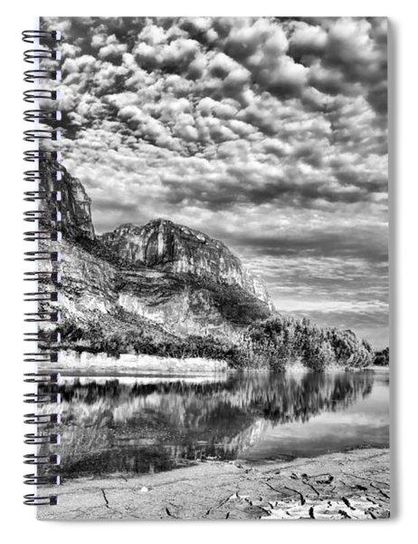 Rio Grande River Black And White Spiral Notebook