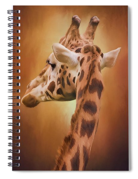 Rising Above - Giraffe Art Spiral Notebook