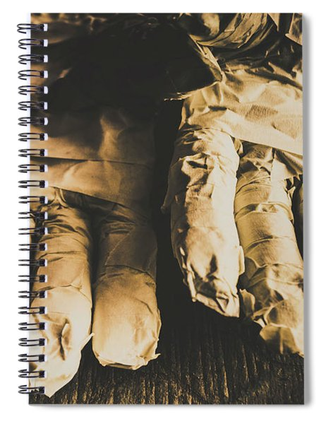Rising Mummy Hands In Bandage Spiral Notebook