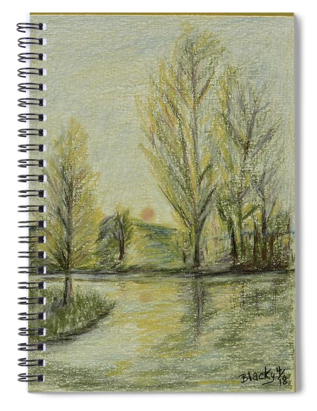 Rising On Country Pond Spiral Notebook
