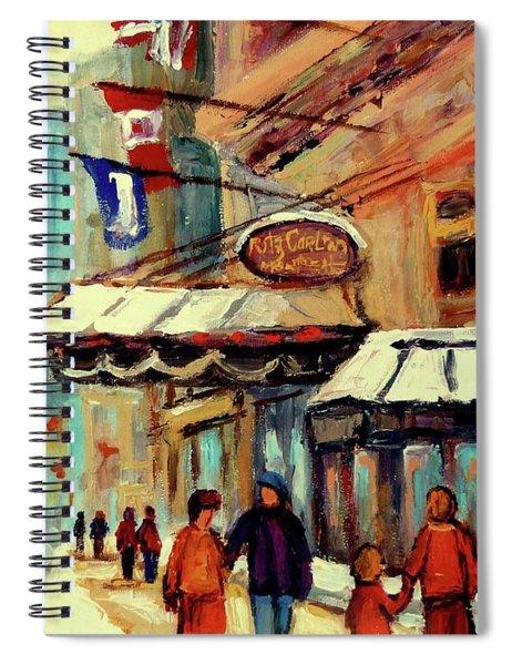 Ritz Carlton Montreal Cityscenes  Spiral Notebook