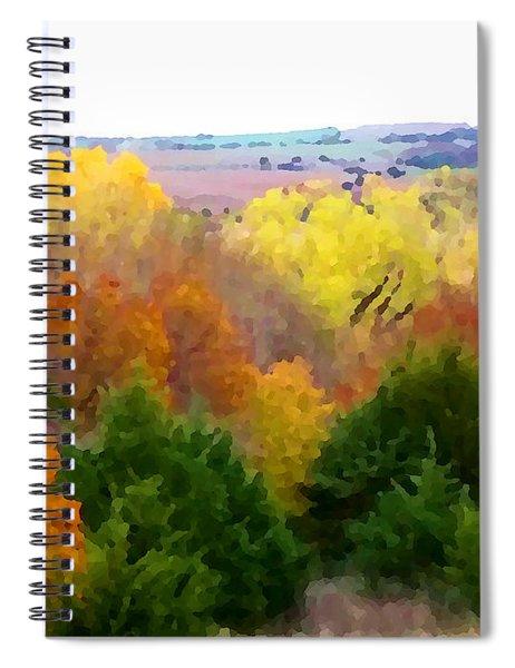 River Bottom In Autumn Spiral Notebook