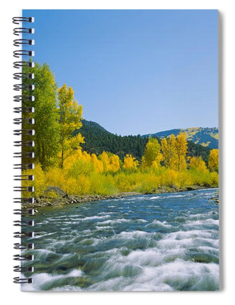 River Flowing In The Forest, San Miguel Spiral Notebook