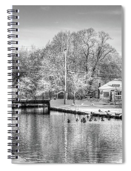 River In The Snow Spiral Notebook