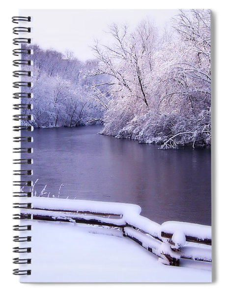 River In Winter Spiral Notebook