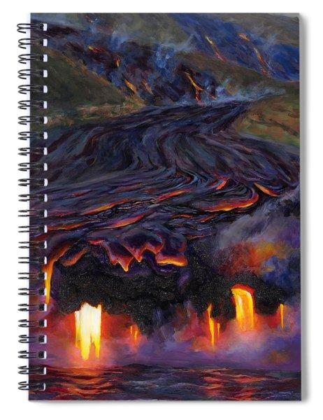 River Of Fire - Kilauea Volcano Eruption Lava Flow Hawaii Contemporary Landscape Decor Spiral Notebook