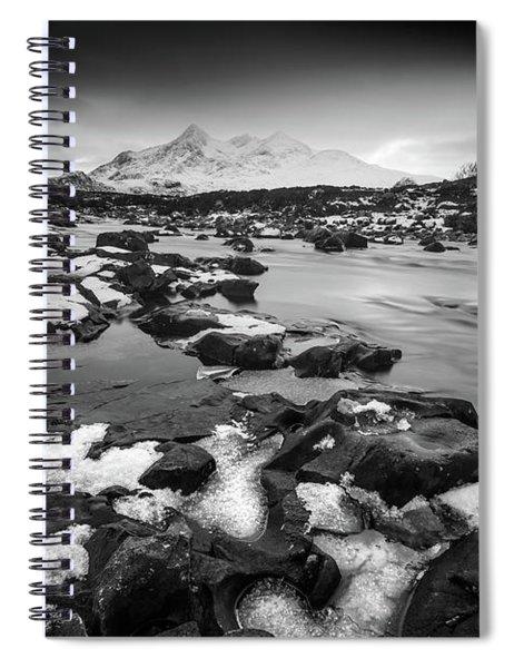 River Sligachan And Black Cuillin, Isle Of Skye Spiral Notebook